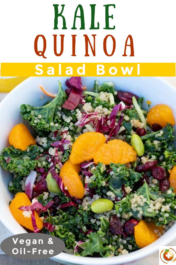 kale quinoa salad bowl photo collage for pinterest