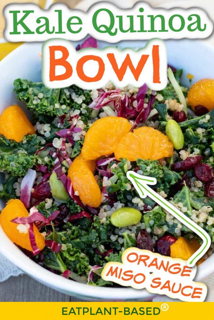 kale quinoa bowl photo collage for pinterest