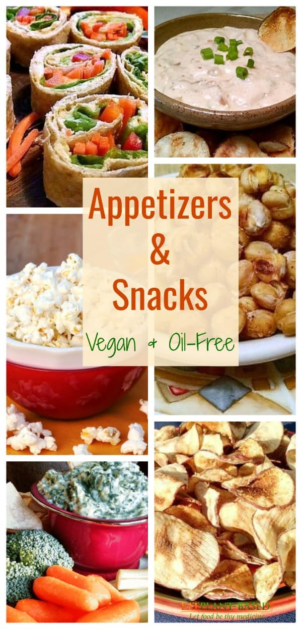 vegan oil free appetizers and snacks