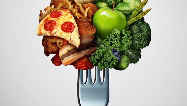 reducing cholesterol with diet food on fork
