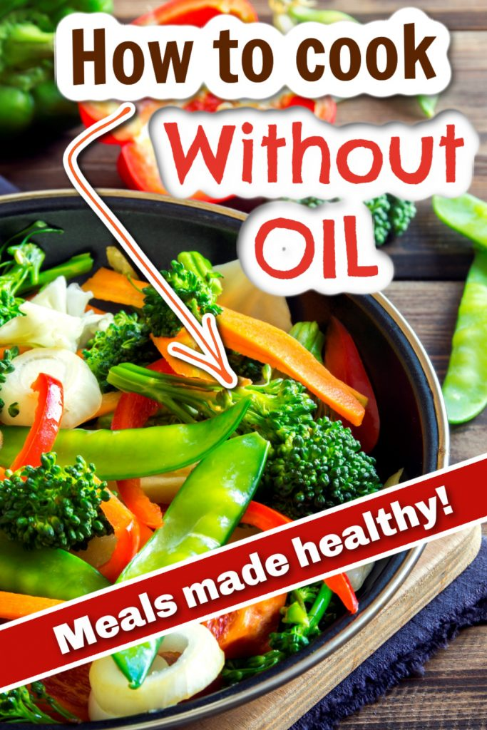 photo collage for cooking without oil
