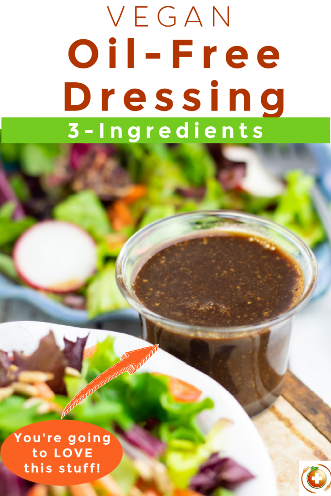 oil free salad dressing photo collage for pinterest