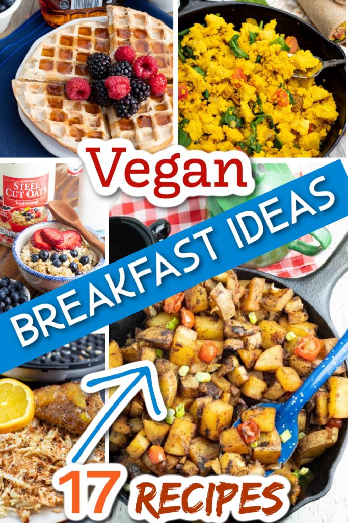 vegan breakfast photo collage