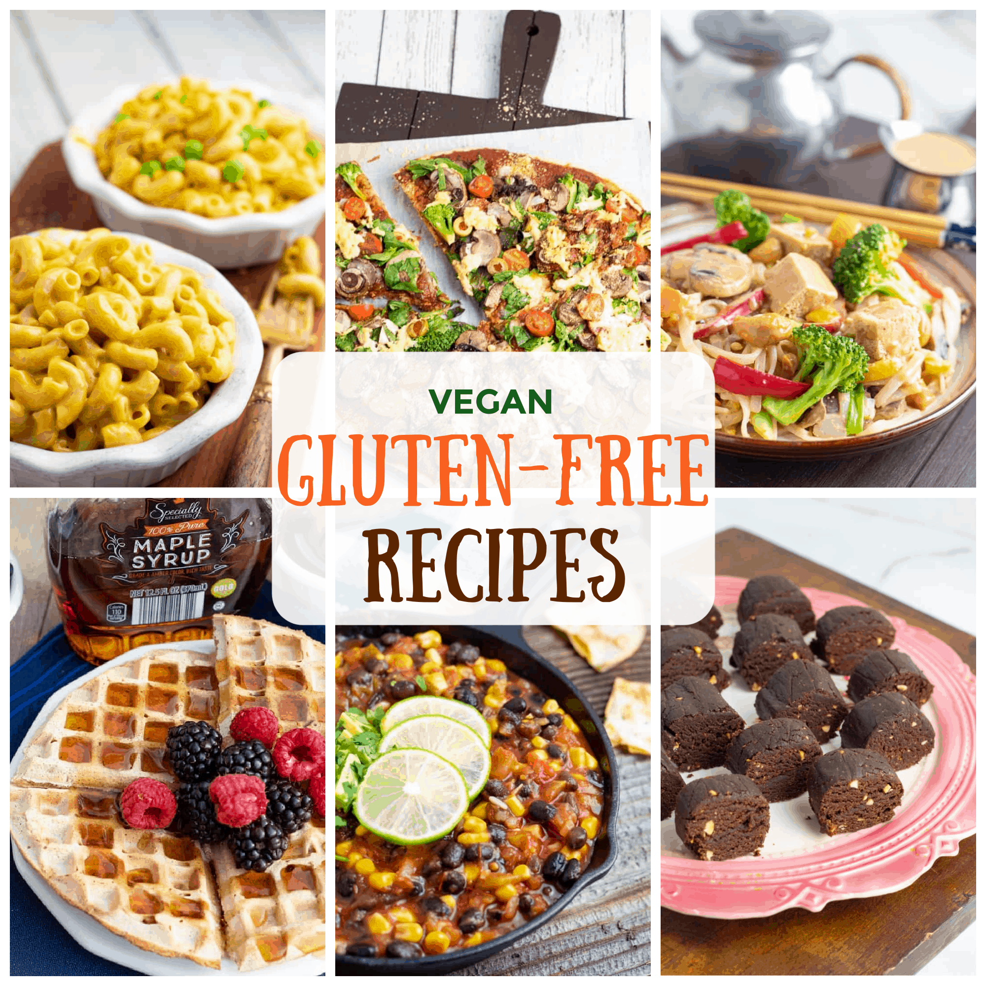 vegan gluten free recipes photo collage