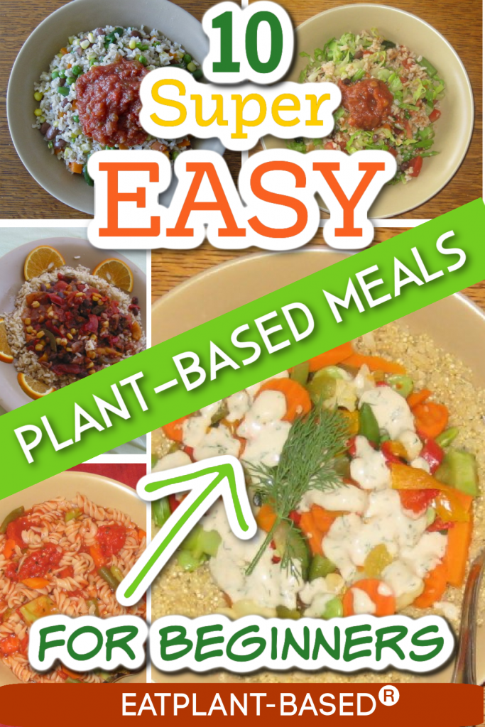 10 easy vegan meals photo collage for pinterest