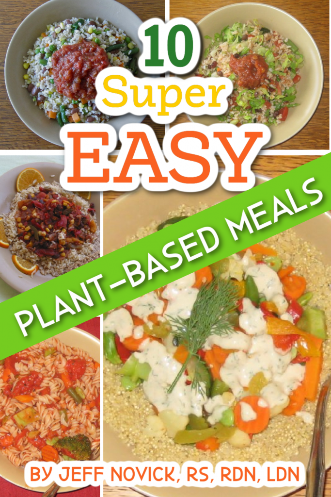 photo collage for 10 simple vegan meals