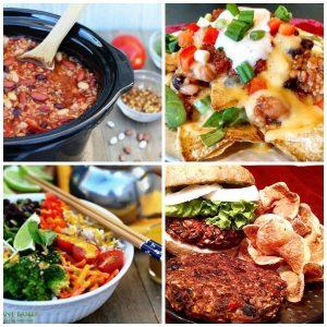 Vegan Dinner Recipes collage of 4 photos