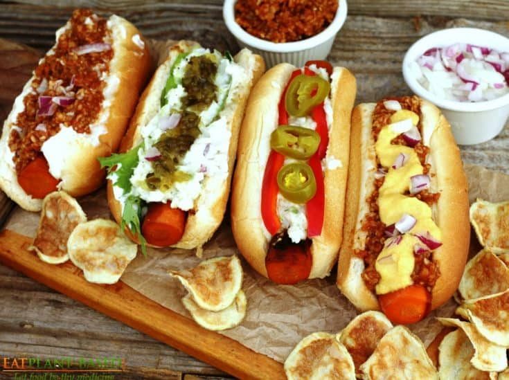 Grilled Carrot Hot Dogs