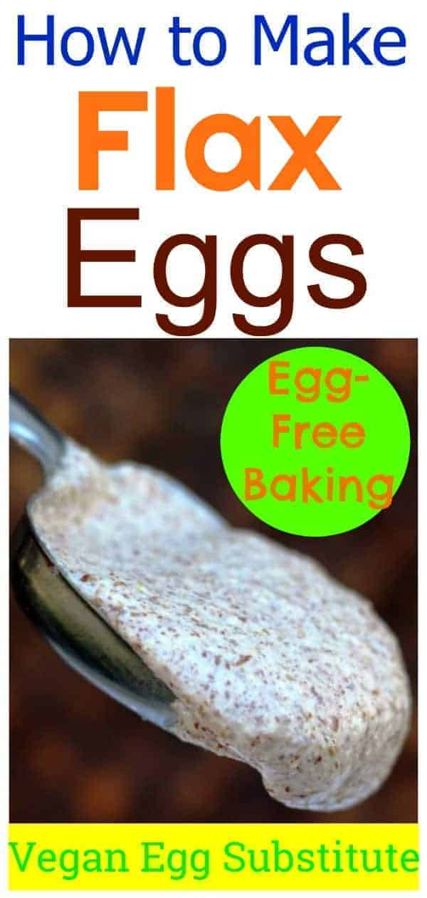 Flax eggs are the perfect vegan egg substitute for baking. They require only 2 ingredients and can be whipped up in minutes.