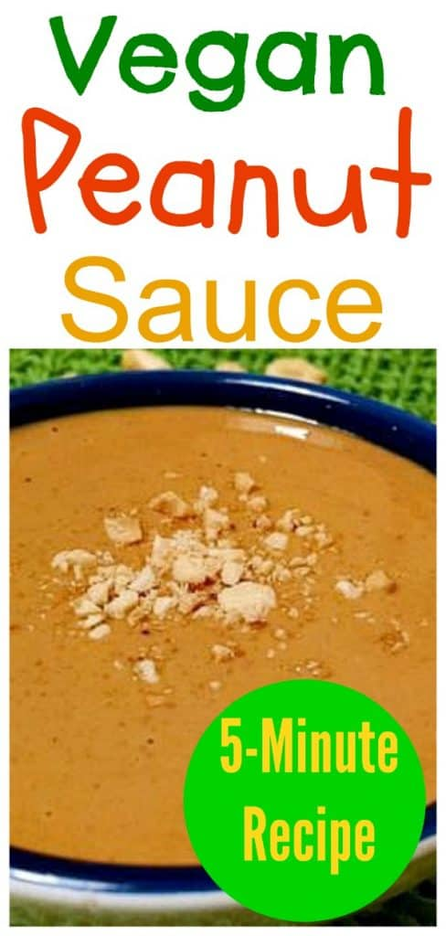 vegan peanut sauce
