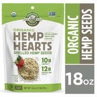 Manitoba Harvest Organic Hemp Hearts Raw Shelled Hemp Seeds, 18oz; with 10g Protein & 12g Omegas per Serving, Non-GMO, Gluten Free