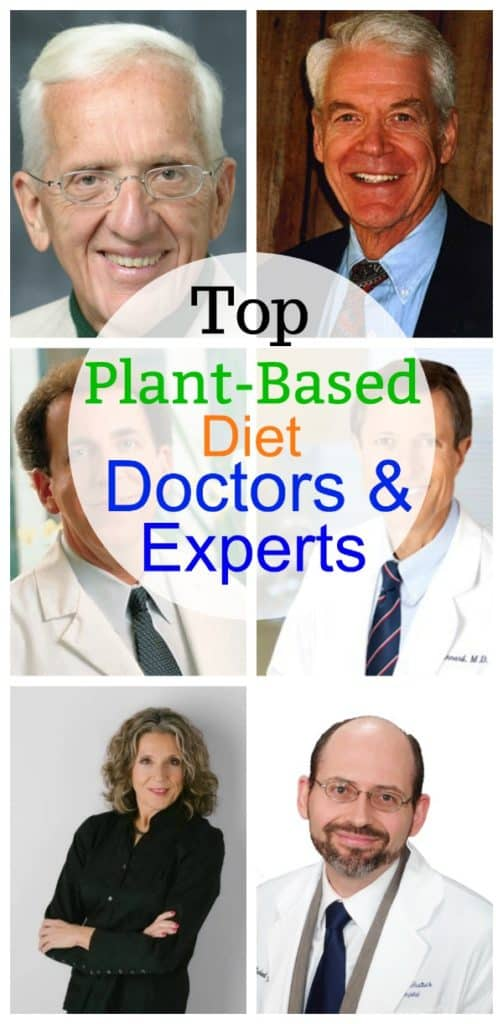plant based diet doctors and experts collage for pinterest
