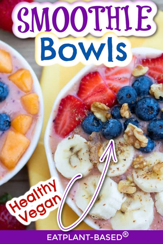 smoothie bowl photo collage for pinterest
