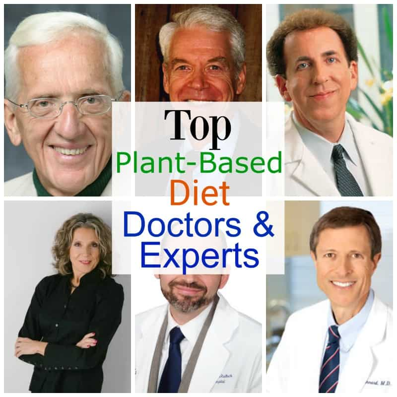 plant based doctors collage of 6