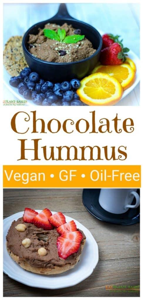 chocolate hummus collage