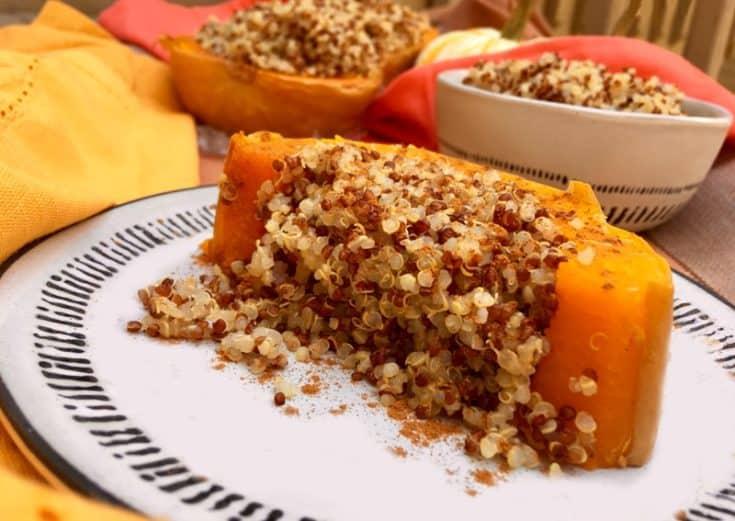 Oil-Free Quinoa-Stuffed Squash Recipe