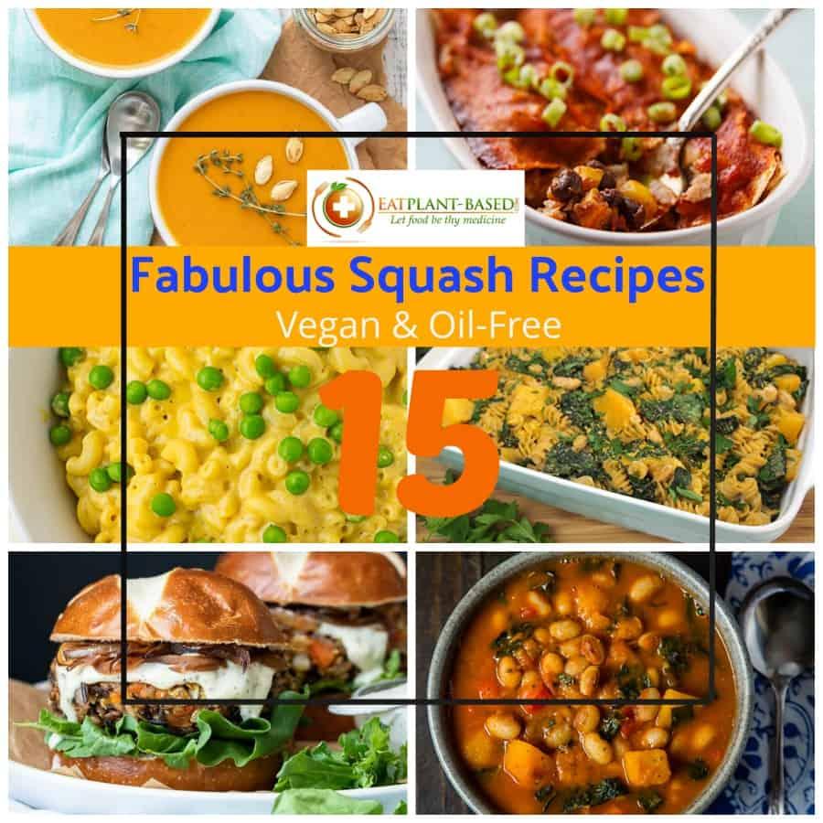 titled squash recipe collage