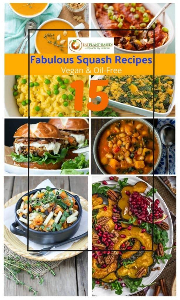 squash recipe collage