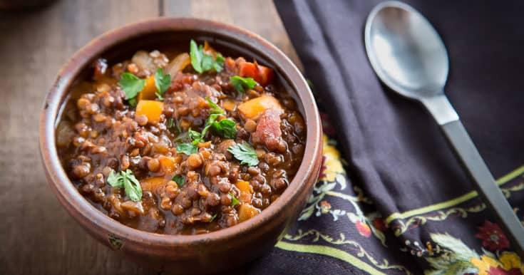 Black and Red Lentil Chili | FatFree Vegan Kitchen