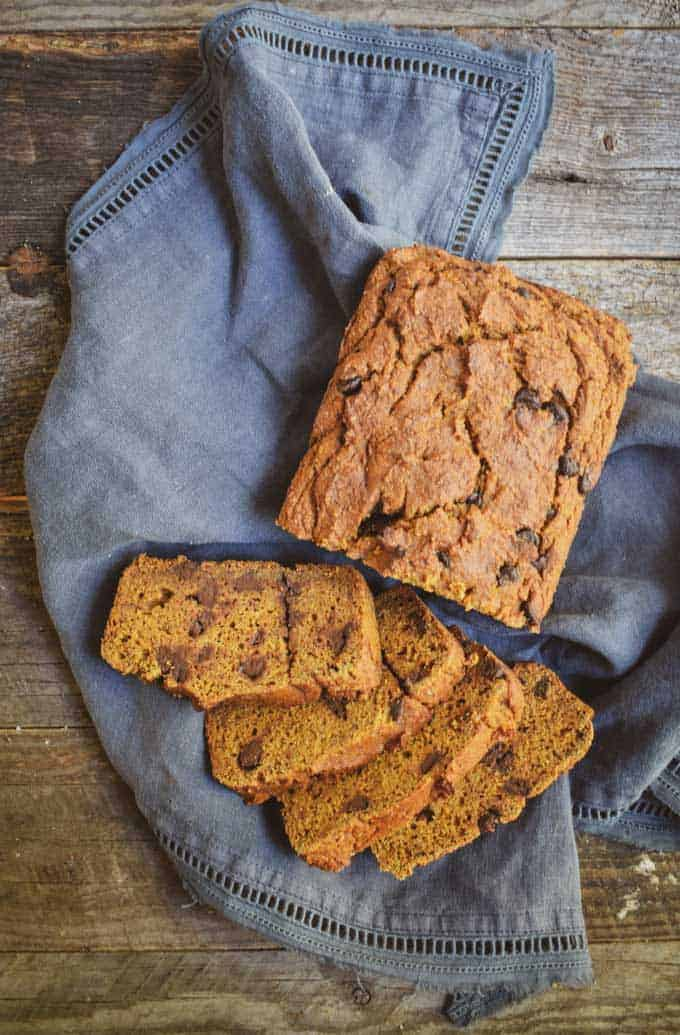 Easy Vegan Pumpkin Bread With Dark Chocolate Chips | Shane & Simple