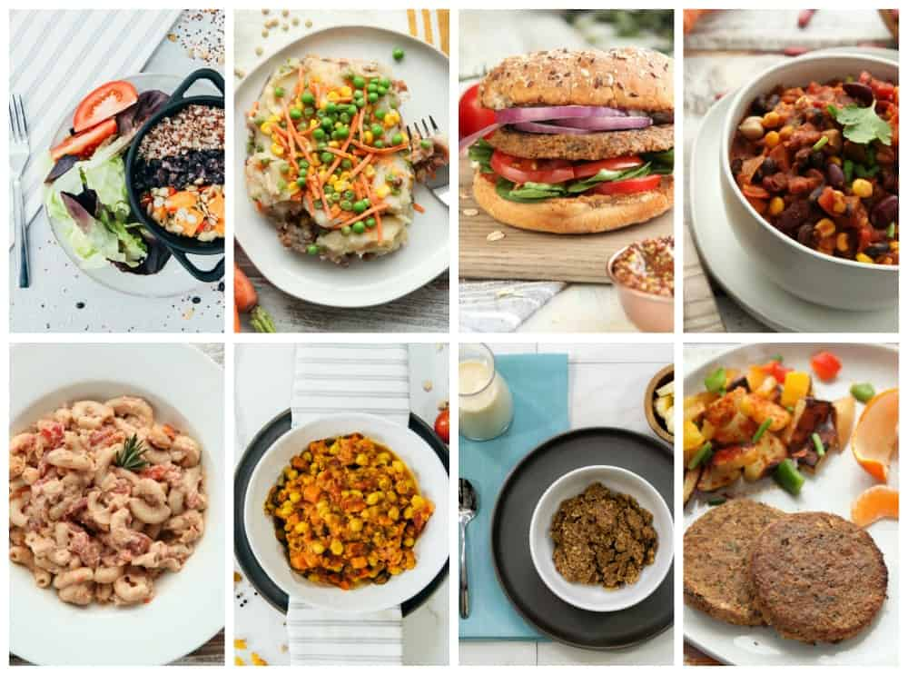 photo collage of vegan meal delivery bundle
