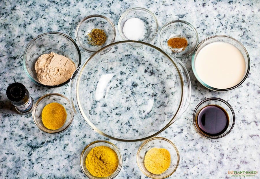 ingredients on marble countertop