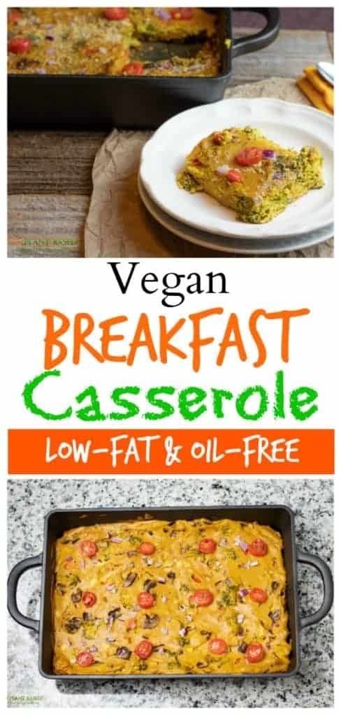 vegan breakfast casserole pinterest photo collage