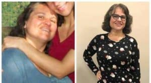 WFPB Weight Loss Moore Carissa Moore before and after photos