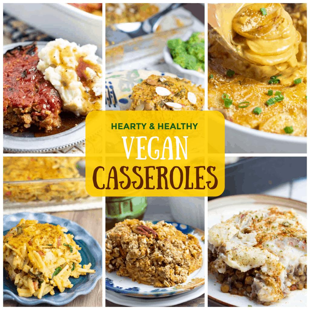 vegan casseroles photo collage