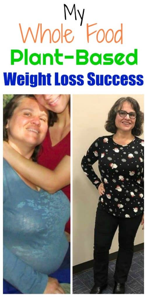 whole food plant based diet weight loss success story before and after photo