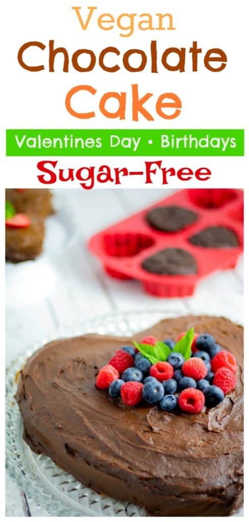 heart shaped chocolate sugar free cake pinterest photo with title