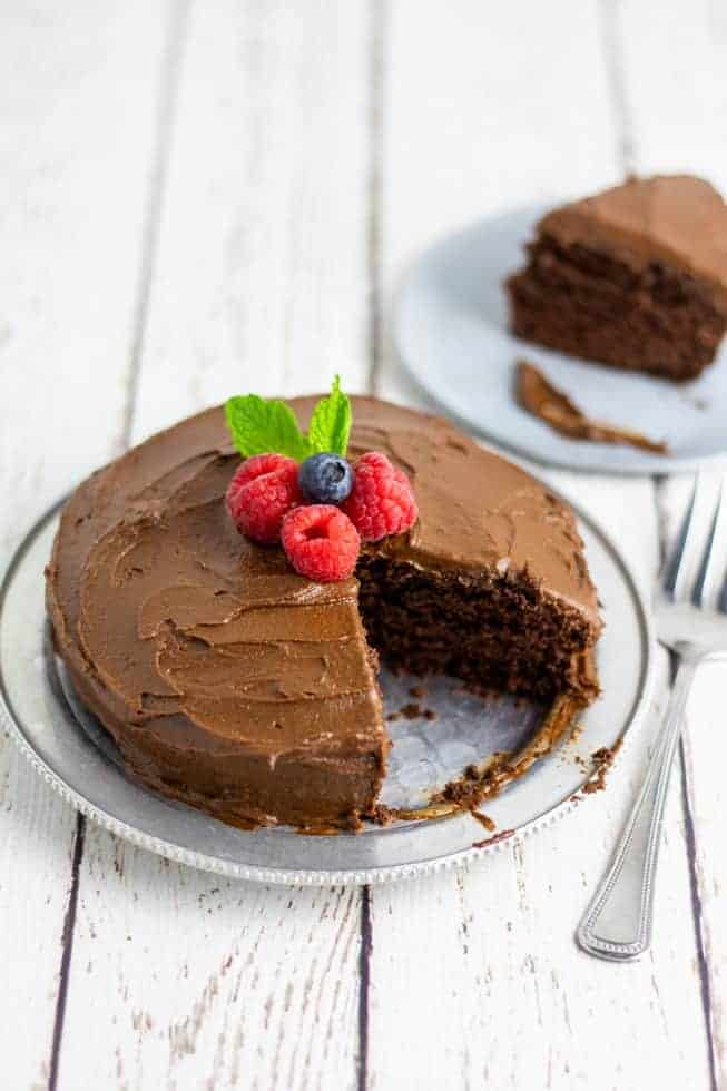 Chocolate Vegan Cake Sugar Free Eatplant Based