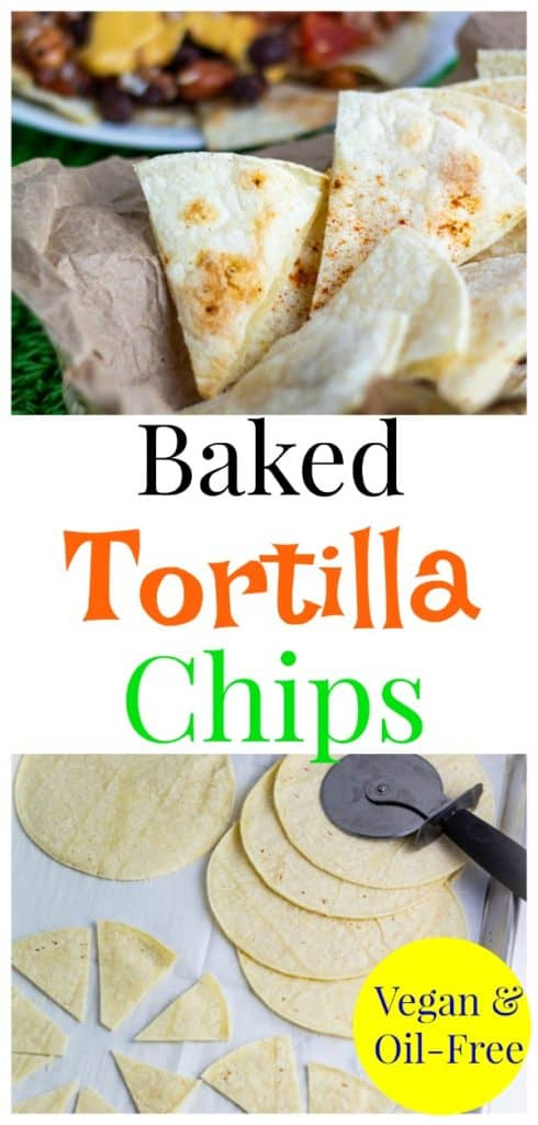 baked tortilla chips pinterest collage