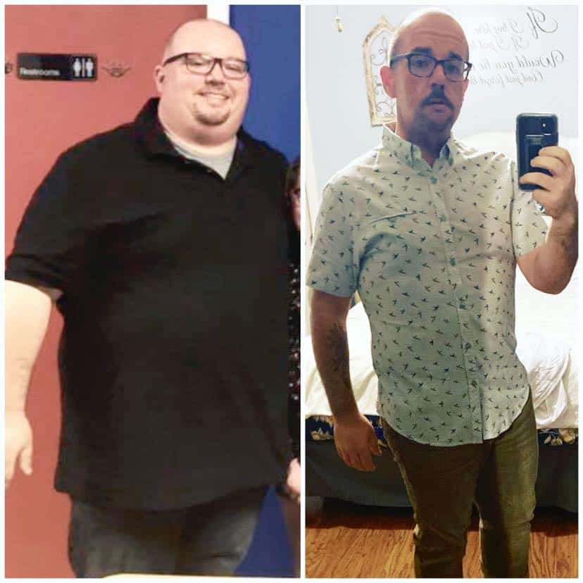 Dan Caracciolo before and after WFPB weight loss