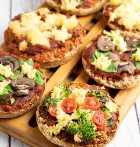 English Muffin Mini Veggie Pizzas