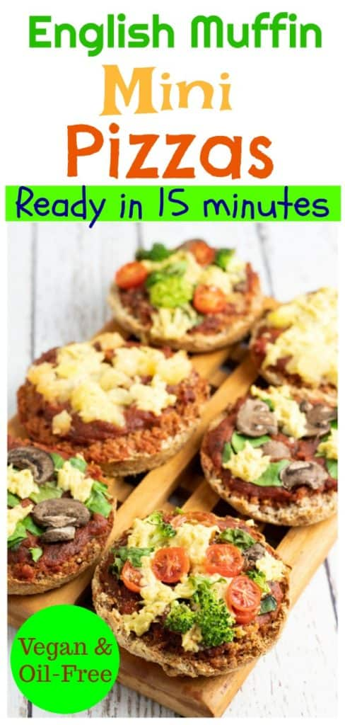 English Muffin Pizza pinterest collage