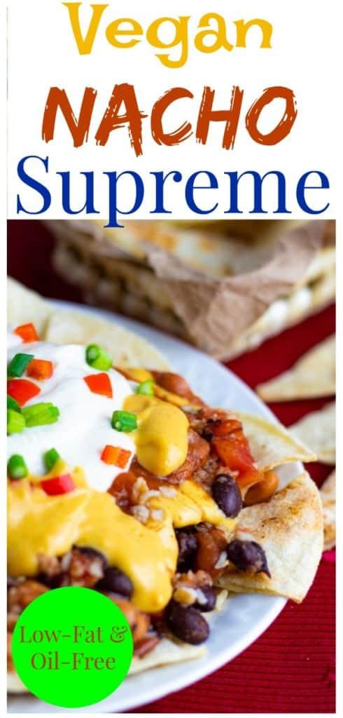 vegan nacho supreme pinterest collage
