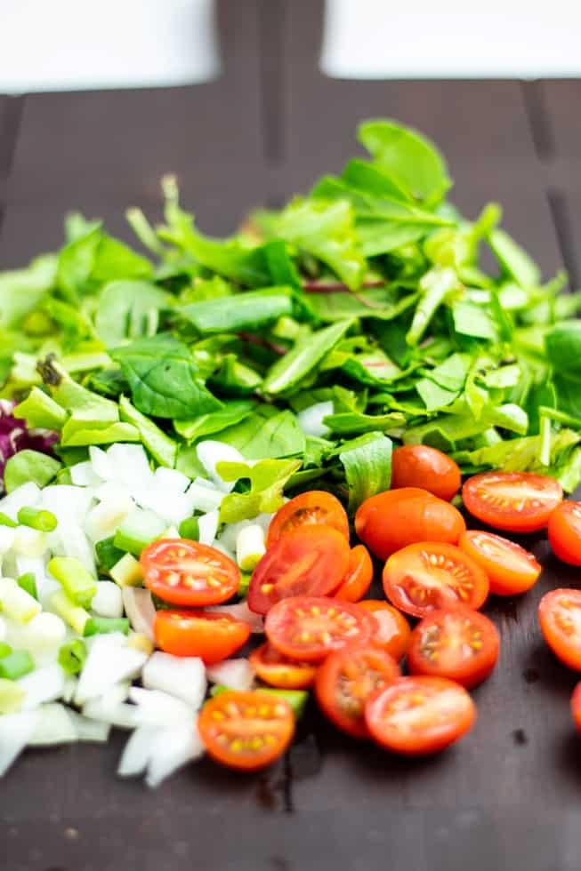 diced veggies
