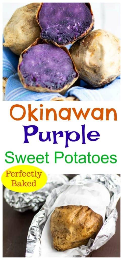 okinawan sweet potato pinterest collage