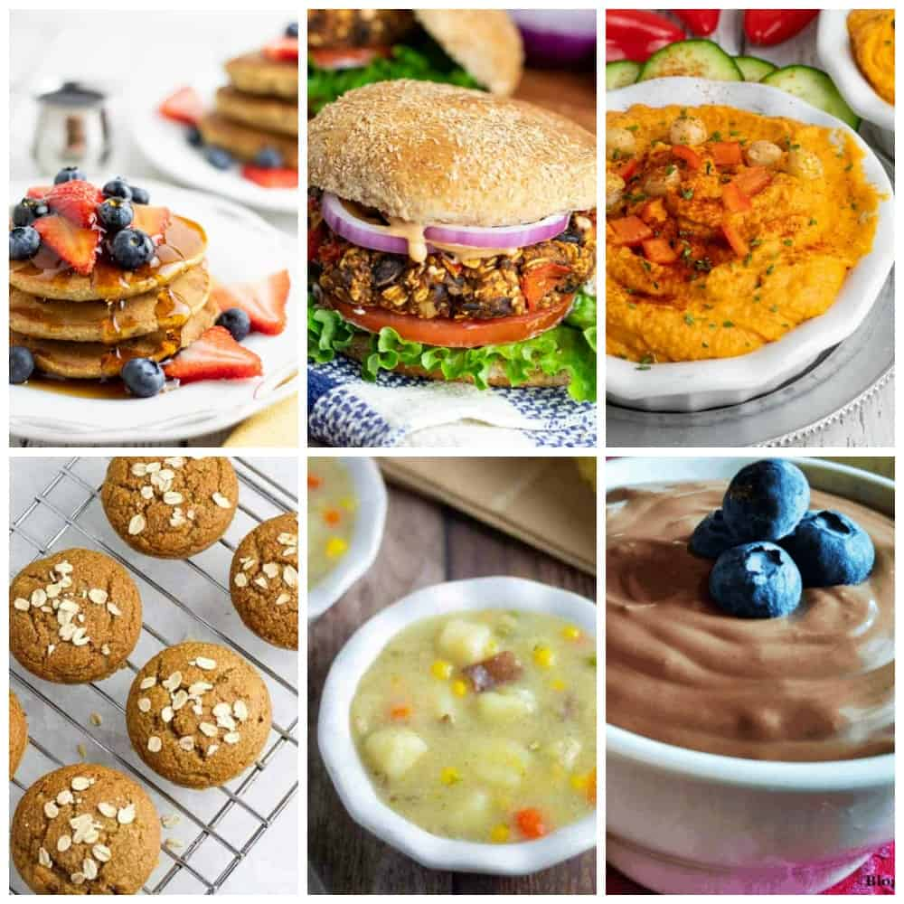 vegan pantry stable meals photo collage for pinterest