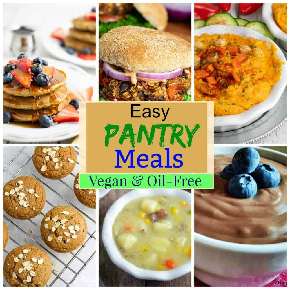 pantry meals photo collage for pinterest