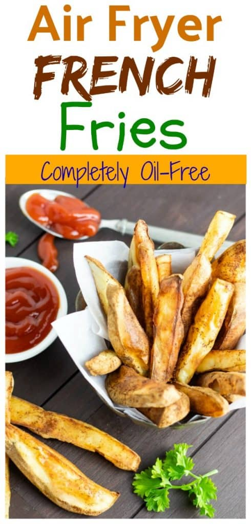 air fryer french fries pinterest photo collage
