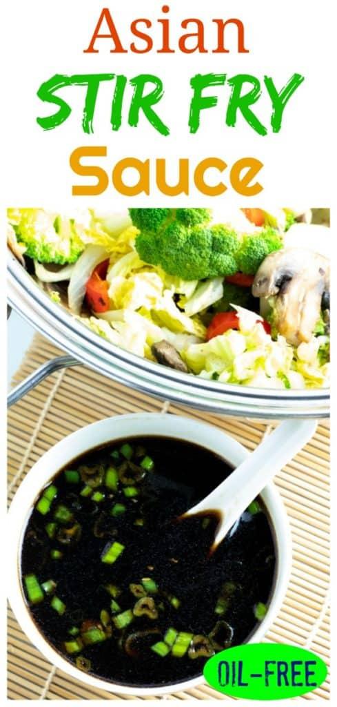 helathy stir fry sauce photo collage for pinterest