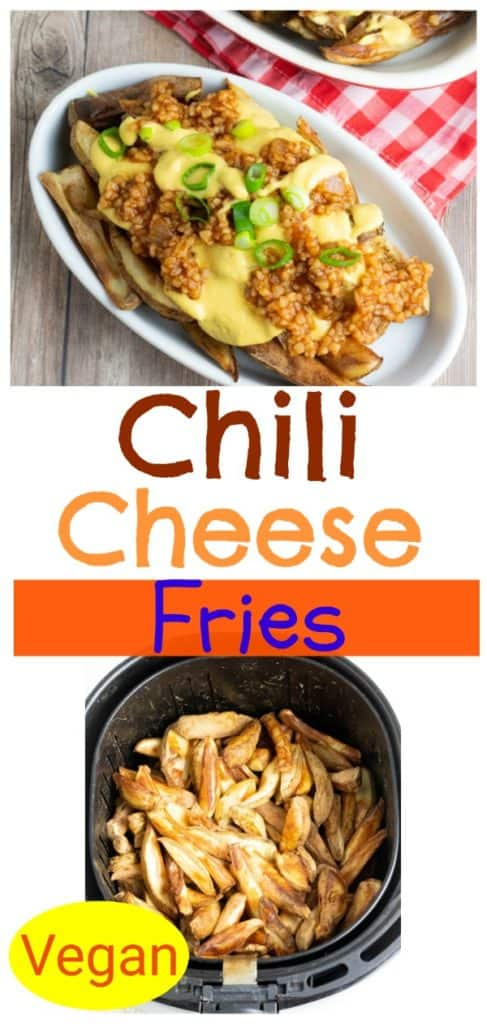 chili cheese fries vegan pinterest collage photo