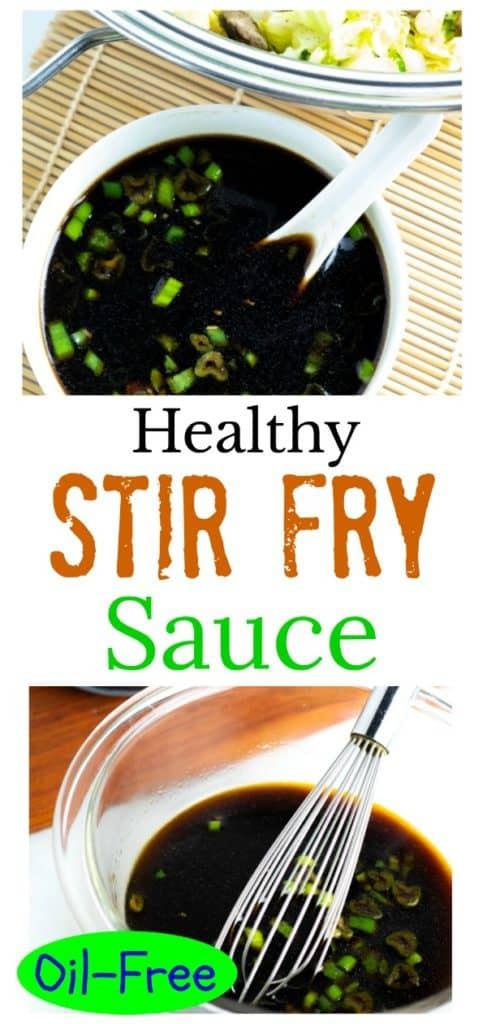 asian stir fry sauce photo collage for pinterest