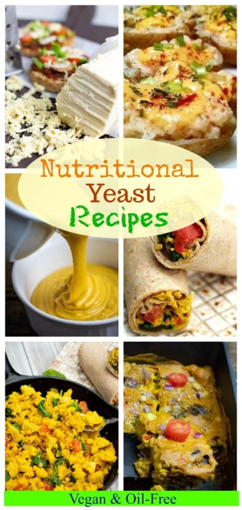 Nutritional yeast photo collage for pinterest