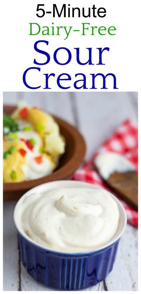 dairy free sour cream photo collage for pinterest