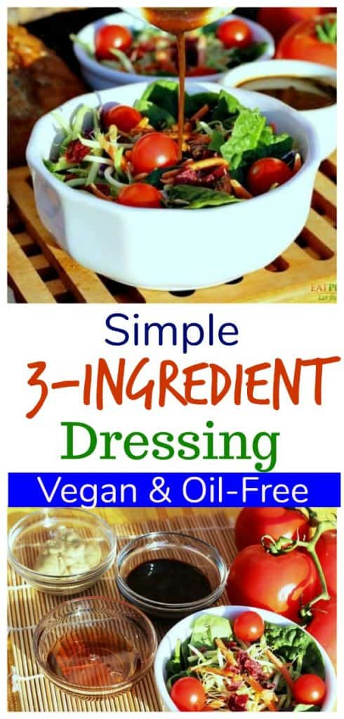 easy salad dressing photo collage for pinterest