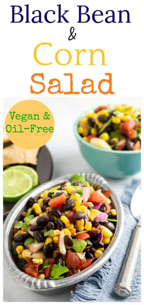 black bean corn salad photo collage for pinterest