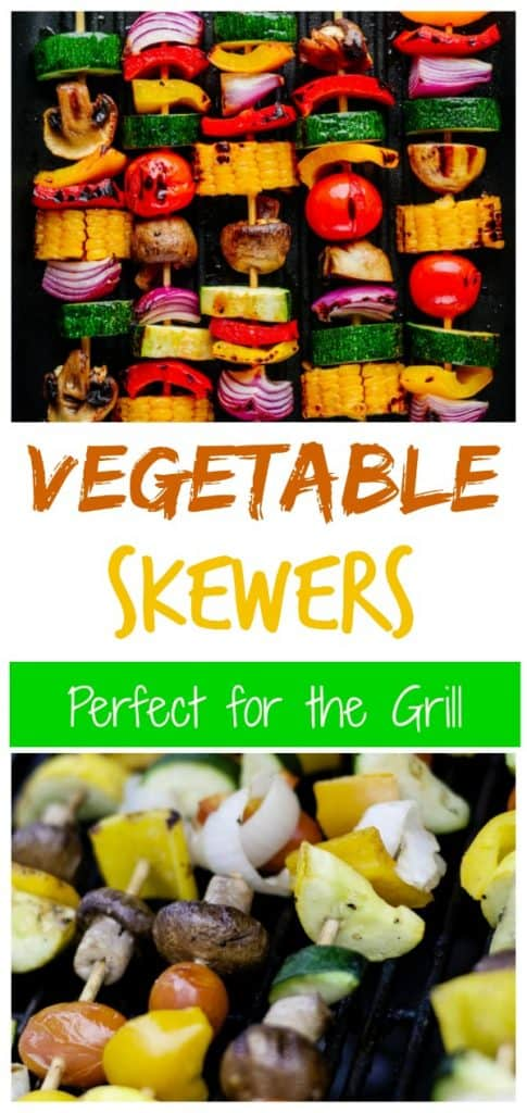 grilled veggie kabobs photo collage for pinterest
